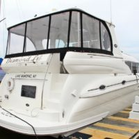 2002 Sea Ray 480 Motor Yacht with Luxury Hudson river boat slip